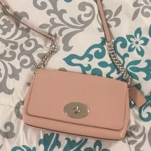 Pink coach crossbody bag